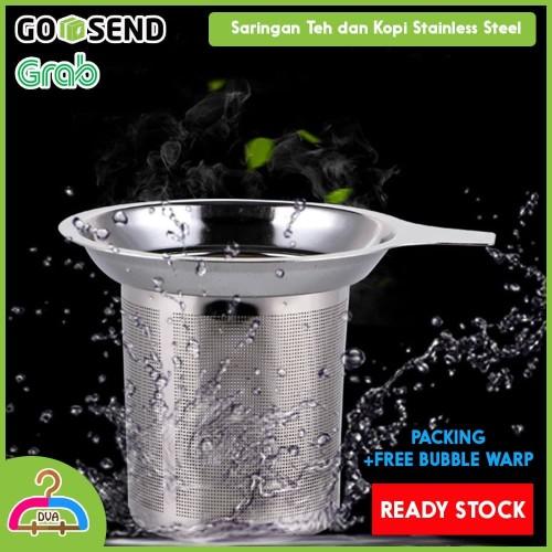 Foto Produk Tea Strainer Saringan Teh Kopi Stainless Steel Metal Filter dari DvaClothingLine