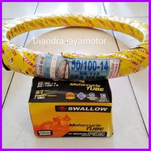 Foto Produk Paket ban matic swallow+ban dalam uk.50/100.ring 14 dari adeliajayajaya