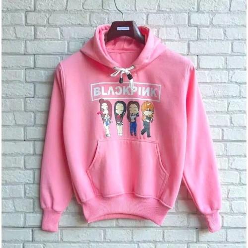 Foto Produk Sweater anak perempuan BLACKPINK FULL MEMBER sweter baju jaket cewe - PINK BABY dari SnsStore