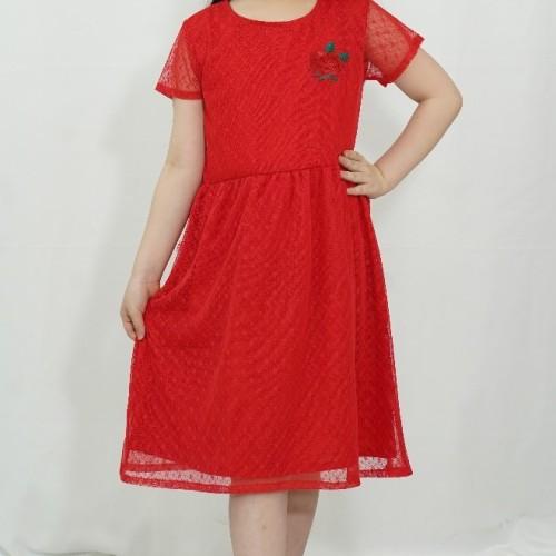 Foto Produk Dress / Dress Anak Perempuan Red / Merah Rodeo Junior Girl Love - 6 dari Rodeo Junior