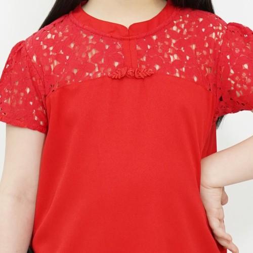 Foto Produk Dress / Dress Anak Perempuan Red / Merah Daisy Duck Love - 4 dari Rodeo Junior