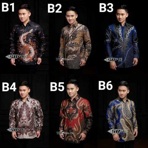 Foto Produk Kemeja batik pria gradation panjang | baju batik cowok dari Juna Batik