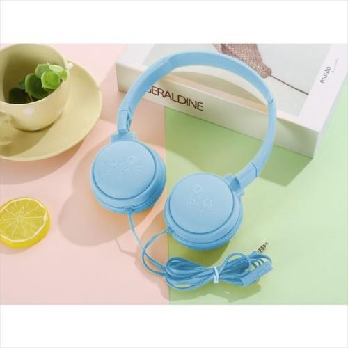 Foto Produk LIGER J-18 Handsfree Headset Headphone Macaron Cartoon With Mic - Biru dari LIGER OFFICIAL STORE