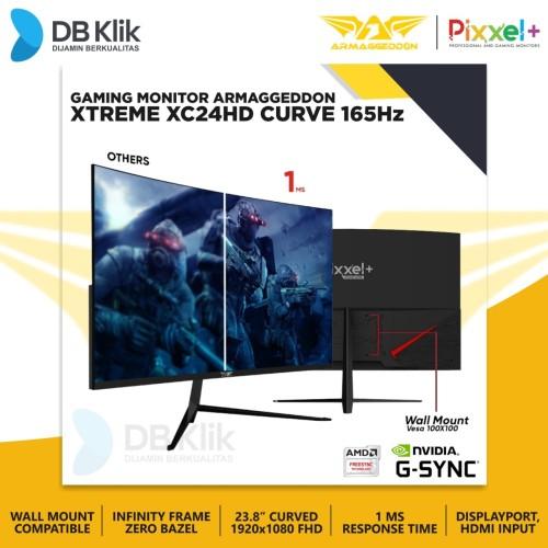 Foto Produk Monitor Gaming Armaggeddon Pixxel Plus XC24HD 24 Inch Curve dari DBklik Semarang