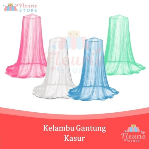 Foto Produk Kelambu Gantung Kasur Anti Nyamuk / Klambu Tirai Bulat Tempat Tidur dari Fleurie Store