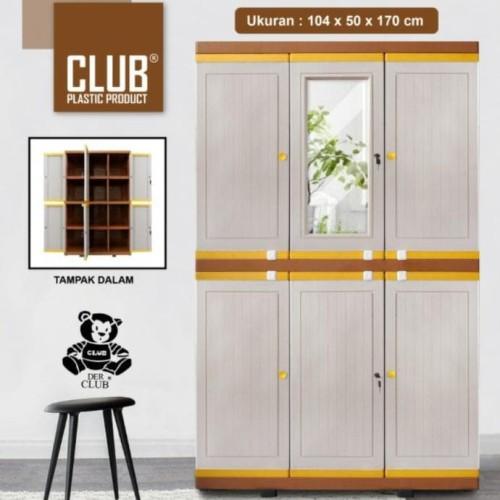 Foto Produk Lemari Plastik Club Pintu 3(Mega Grand Lc-M01 Putri.Intan42 dari intanputri_top