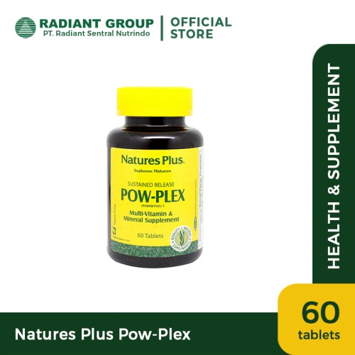Foto Produk Nature's Plus Pow Plex [60 Tabs] dari Radiant Official Store