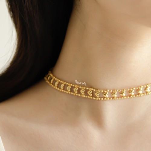 Foto Produk Dear Me - Darling Necklace (Brass with 14K Gold Plating) Kalung Wanita dari Dear Me Jewelry