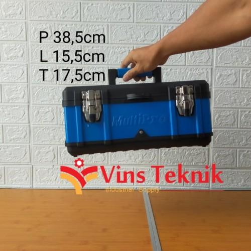 Foto Produk toolbox tool box plastik body besi 15.5inch MULTIPRO heavy duty dari VINS TEKNIK