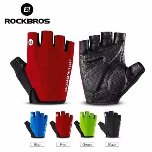 Foto Produk Sarung Tangan Sepeda Rockbros S106 Half Finger Bike Gloves Gowes Murah - Merah, XL dari Rockbros Official