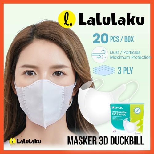 Foto Produk Masker 3D 3ply Duckbill Dewasa Isi 20 pcs dari Lalulaku