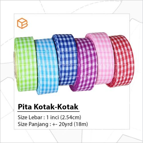 Foto Produk Pita Kotak 2.54cm 1 inch - PINK dari Box Are Us