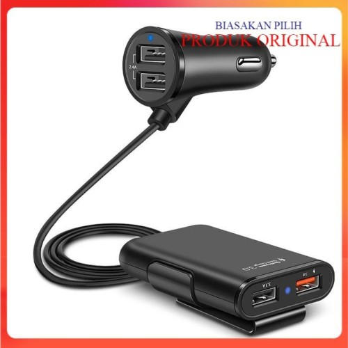 Foto Produk Car Charger Mobil Fast Charging 3.1A Qualcomm Quick Charger 4 Port USB dari Dhantie Gallery Shop