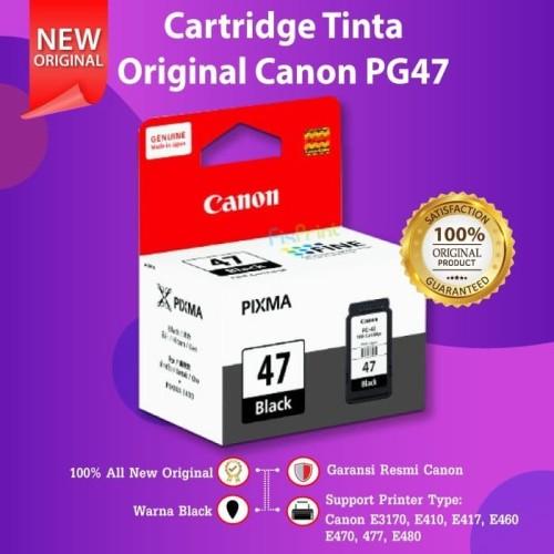 Foto Produk Cartridge Original Canon PG47 PG 47 Refill Printer E400 E410 E460 E480 - Hitam dari FixPrint Indonesia