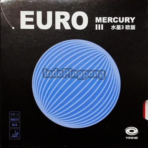 Foto Produk Yinhe Mercury Euro III - Rubber Karet Spons Biru Merah 3 - hitam dari IndoPingpong
