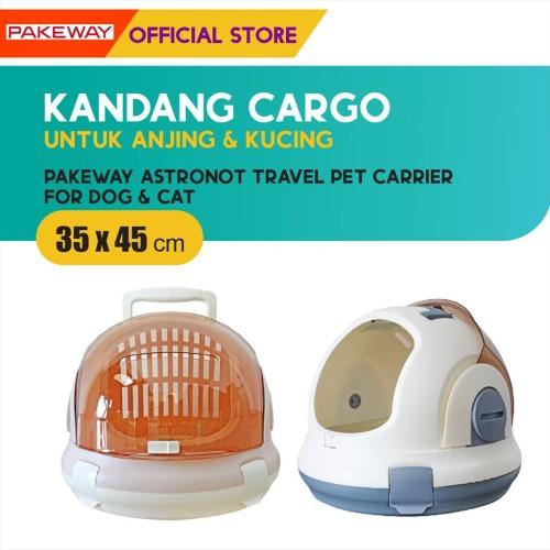 Foto Produk Pakeway Astronot Travel Pet Carrier / Kandang Cargo Anjing Kucing dari Olego Official Store