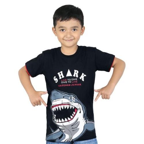Foto Produk Baju Kaos Bergambar Anak Laki-Laki Umur 2 - 8 Tahun BPS 059-428 Hitam - 2 dari HSN Store