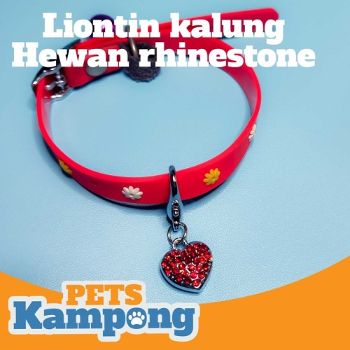 Foto Produk Liontin kalung hewan rhinestone dari Pets Kampong