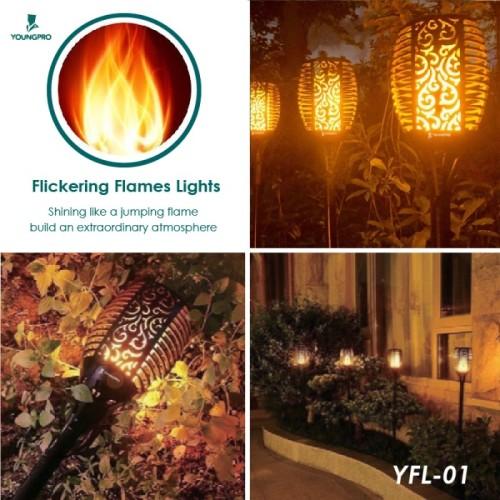 Foto Produk YOUNGPRO YFL-01 Lampu Obor Dekorasi Taman Solar Flame Light 33LED - Black dari YOUNGPRO INDONESIA