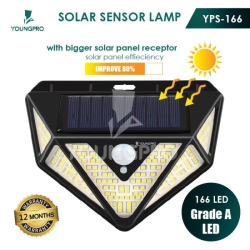 Foto Produk YOUNGPRO YPS-166 Lampu Outdoor Taman Panel Solar Sensor Gerak 166 Led - Hitam dari YOUNGPRO INDONESIA
