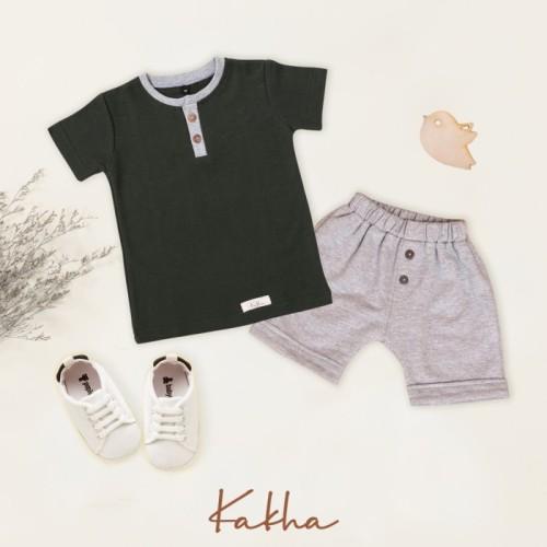 Foto Produk Set Henley Kakha Series (setelan bayi dan anak) - Set Army, XL dari kakhaofficial
