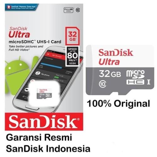 Foto Produk Sandisk Micro SD 32GB CLASS 10 Non Adapter MicroSD Memory Card 32 GB dari Porto Grosir