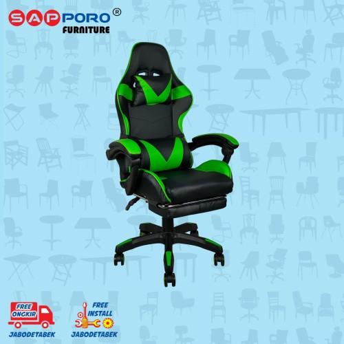 Foto Produk Gaming Chair / Kursi Gaming SAPPORO THANET - Green dari Sapporo Furniture Online