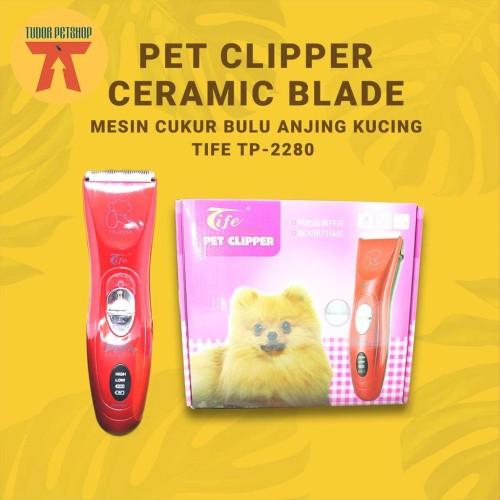 Foto Produk PET Clipper Tife Alat Cukur Hewan Anjing Kucing TP-2280 dari Tudor Petshop
