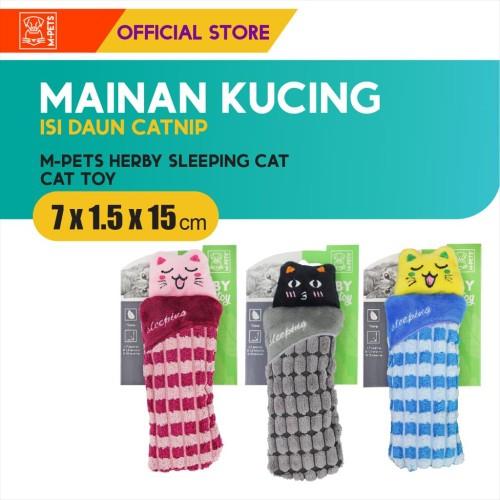 Foto Produk M-Pets Herby Sleeping Cat Catnip Toy / Boneka Mainan Kucing Tidur dari Olego Official Store