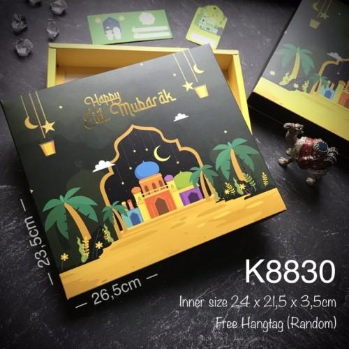 Foto Produk Kotak Lebaran K8830 Eid Mubarak Hampers, Goodie Bag Idul Fitri dari Mooncakely
