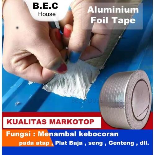 Foto Produk Lakban Anti Bocor Anti Air Aluminium Foil Butyl Super Waterproof Tape - 5Meter x 5cm dari BEC House Official Store