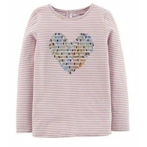 Foto Produk Kaos Anak Perempuan Lengan Panjang Sequins 4-14Tahun - STRIPE, opsi 5T dari kiddooutlet