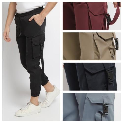 Foto Produk KAYSER ARTHA Celana Hypebeast Celana pria Celana Cargo Jogger Pant - abu-abu, l dari kayser official