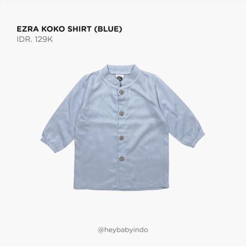 Foto Produk Hey Baby Ezra Koko Shirt - Blue, 6-9m dari Hey! Baby