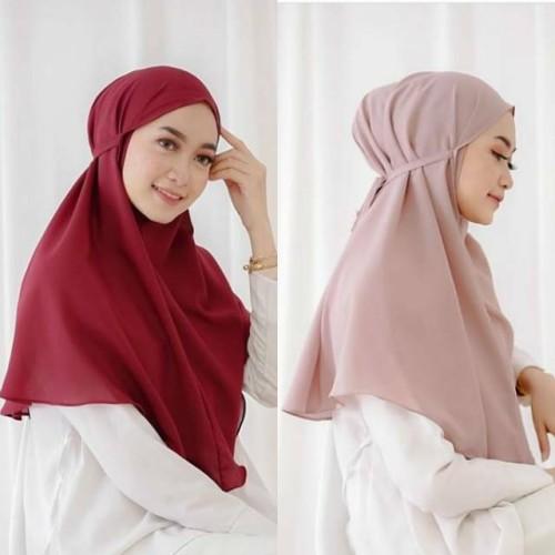 Foto Produk Jilbab instan bergo Maryam diamond Dewasa hijab Khimar non pet - Salem dari Rahayu Official
