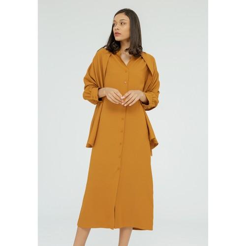 Foto Produk Minimal Headscraf Long Dress MUSTARD - M dari minimal