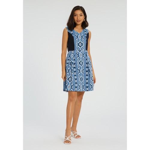 Foto Produk Ethnica Long Dress Navy Blue - XXL dari minimal