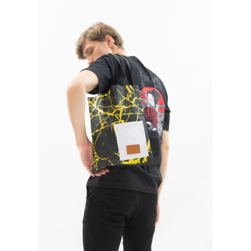 Foto Produk Tote Bag Canvas houseofcuff tas jinjing pria wanita black marble dari House of Cuff