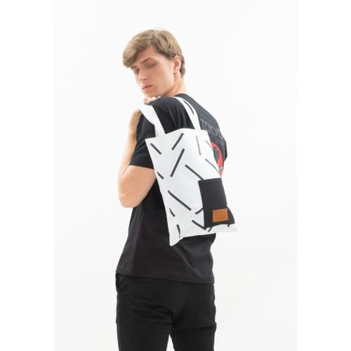 Foto Produk Tote Bag Canvas houseofcuff tas jinjing unisex pria wanita white stick dari House of Cuff
