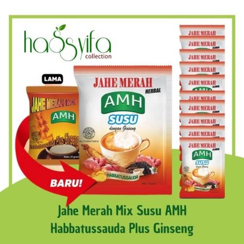 Foto Produk Jahe Merah AMH Mix Susu Herbal Habbatussauda Gingeng Renceng New Pack dari Hassyifa collection