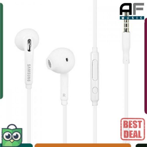 Foto Produk Headset Earphone HF Samsung Galaxy S6 (OEM) - Handsfree Putih White - Putih dari AF Music Studio