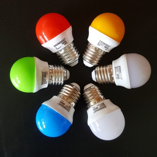 Foto Produk Lampu Tidur LED Ekonomat 1w Warna LED 1 Watt RED BLUE GREEN WHITE WW Y - Putih dari ElectricalMART ID