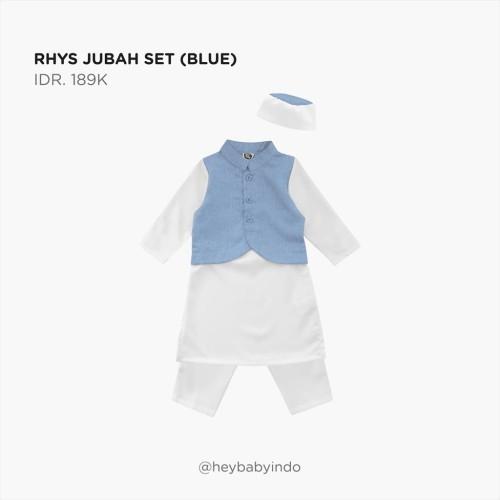 Foto Produk Hey Baby Rhys Jubah Set 2021 - Blue, 3-4y dari Hey! Baby