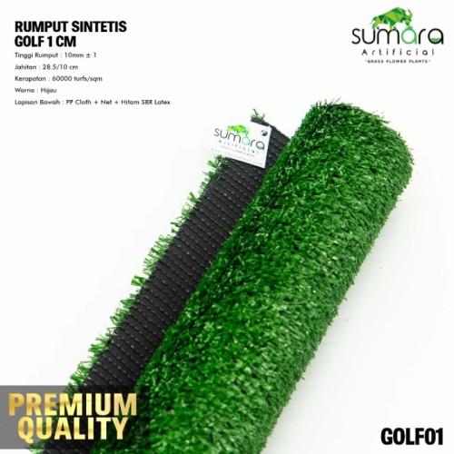 Foto Produk rumput sintetis golf 1 CM PROMO 1x1m,rumput palsu,rumput plastik dari tokorumput