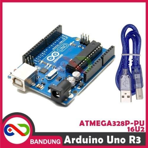 Foto Produk ARDUINO UNO R3 ATMEGA328P ATMEGA 16U2 COMPATIBLE BOARD + USB CABLE dari CNC STORE BANDUNG