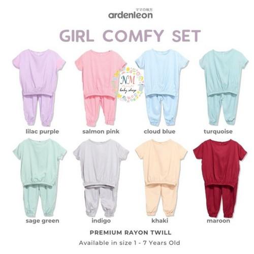 Foto Produk Ardenleon Girl Comfy Set Baju Anak Perempuan - LILAC PURPLE, M (1-2 Y ) dari NMbabyshop