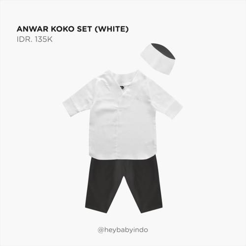 Foto Produk Hey Baby Anwar Koko Set - White, 4-5y dari Hey! Baby