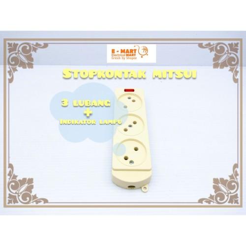 Foto Produk MITSUI STOP KONTAK GEPENG 3 Lubang Kuningan SNI GROSIR dari ElectricalMART ID