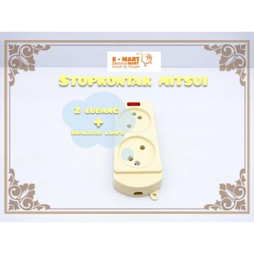Foto Produk MITSUI STOP KONTAK GEPENG 2 Lubang Kuningan SNI GROSIR dari ElectricalMART ID