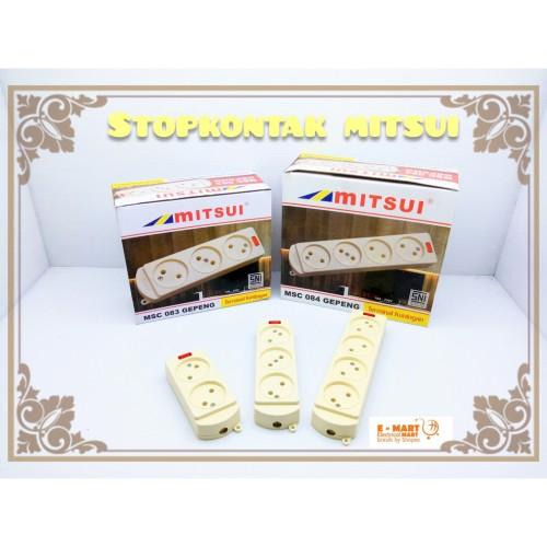 Foto Produk MITSUI STOP KONTAK GEPENG 4 Lubang Kuningan SNI GROSIR dari ElectricalMART ID